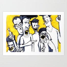 Drunk boys Art Print