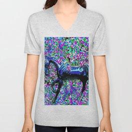 Horse Beneath the Petals Unisex V-Neck