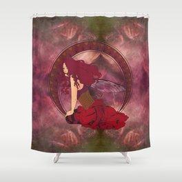 Autumn Fairy Nouveau Shower Curtain