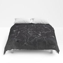Gray Black Marble #1 #decor #art #society6 Comforters