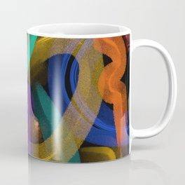 Modern Abstract 'To the Edge' Digital Painting Coffee Mug