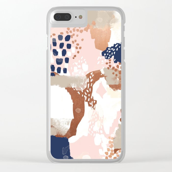 7ecaf890dd Sonia - rose gold navy copper modern abstract rosegold trendy pattern cell  phone accessories Clear iPhone Case