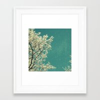 snow Framed Art Prints featuring snow by Claudia Drossert