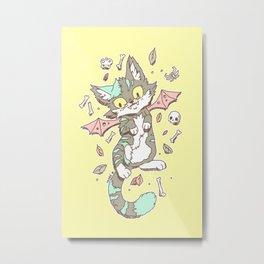 Monster Cat Metal Print