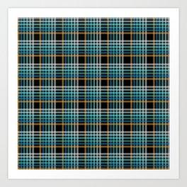 Vibrant modern Scottish lines on black Art Print