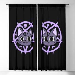 Black Meowgic 03 Blackout Curtain