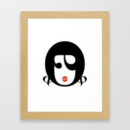 Bodoni Girl Framed Art Print