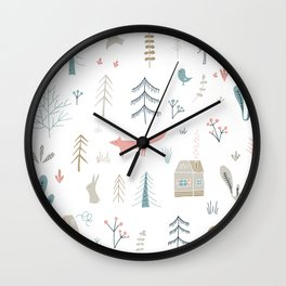 Into the Wild Pastel Wall Clock
