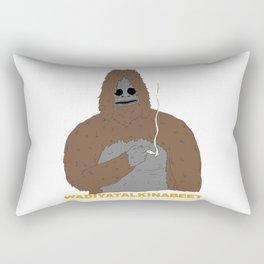 smoking yeti Rectangular Pillow