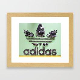 047: Adidas - 100 Hoopies Framed Art Print
