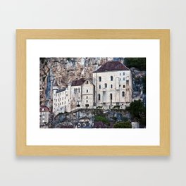 Medieval Facade of the French Castle in Rocamadour Framed Art Print