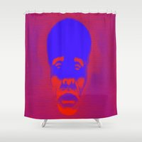 supreme Shower Curtains featuring Supreme Being Pop by Adrian Sipe