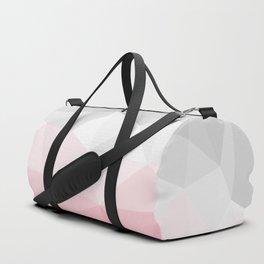 pink and grey polygon 2018 Duffle Bag