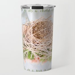 Christmas Bird Nest Travel Mug