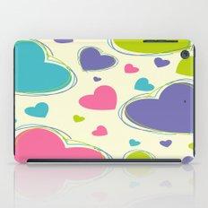 Cute Playful Hearts Pattern iPad Case