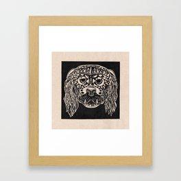 perro grabado Framed Art Print