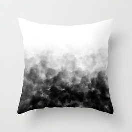 Ombre Smoke Clouds Minimal Throw Pillow