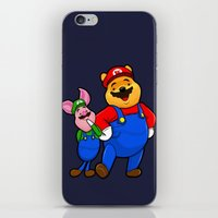 pooh iPhone & iPod Skins featuring bear pooh by NORI