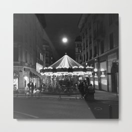 Geneva at night Metal Print