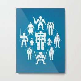 Plastic Heroes Metal Print