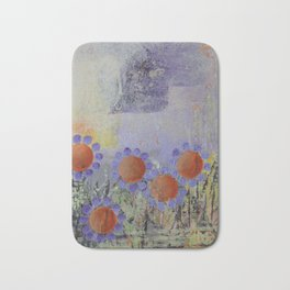 Cheery Flowers Abstract Bath Mat