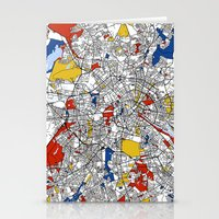 berlin Stationery Cards featuring Berlin  by Mondrian Maps