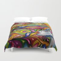 psychedelic Duvet Covers featuring Psychedelic by TheAsmek
