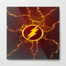 Flash With Lightning Metal Print