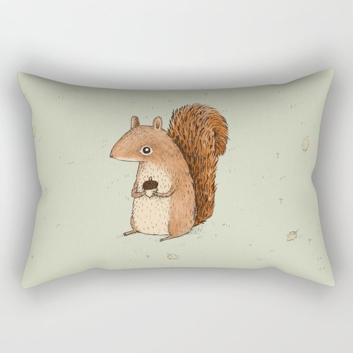 Sarah the Squirrel Rectangular Pillow