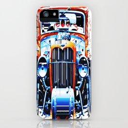 exploding pixels car iPhone Case