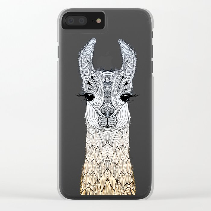 BABY LAMA (CRIA) Clear iPhone Case