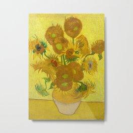 Sunflowers by Vincent van Gogh, 1889 Metal Print