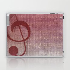 Red Pink Grunge Music Sounds Laptop & iPad Skin