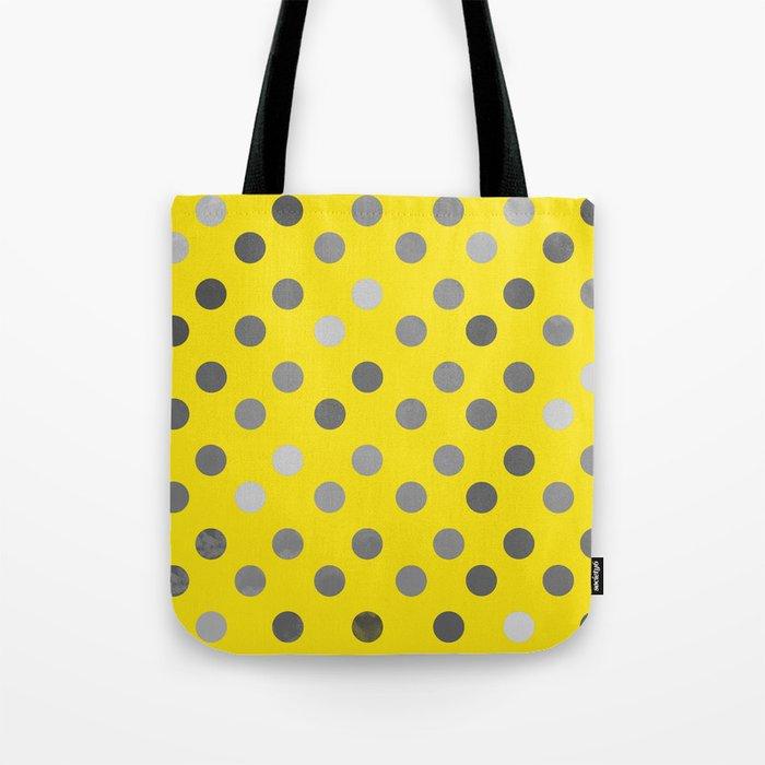 Polka Proton Yellow Tote Bag