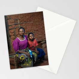 Nelly and mother Stationery Cards