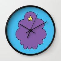 lumpy space princess Wall Clocks featuring Lumpy Space Princess by SBTee's