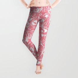 Delicate Flowers Pink Leggings