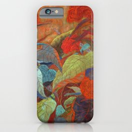 flower3【Japanese painting】 iPhone Case