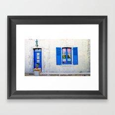 Mediterranean holiday house. Framed Art Print