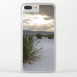 White Sands National Monument and Yucca Plant Clear iPhone Case