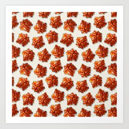 Canadian Maple Syrup Candy Pattern Art Print
