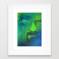 breaking bad Framed Art Prints featuring Breaking Bad by Scar Design