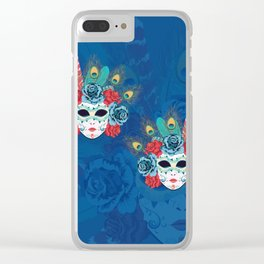 Carnival face mask Clear iPhone Case