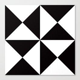 Geometric Pattern #45 (black white triangles) Canvas Print