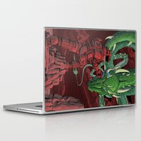 dragonball Laptop & iPad Skins featuring The Dragon on Mars by David Comito