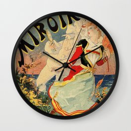 French belle epoque mime theatre advertising Wall Clock