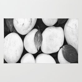 Zen White Stones On A Black Background #decor #society6 #buyart Rug