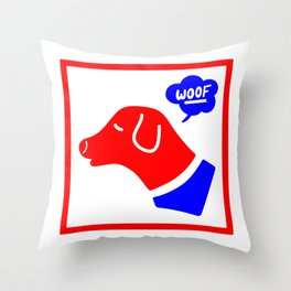 Woof! Throw Pillow