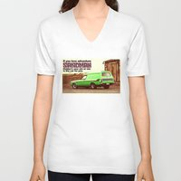 sandman V-neck T-shirts featuring Holden Sandman Adventure by Blulime