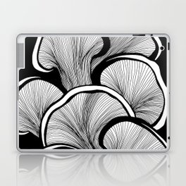 Mushrooms in black and white Laptop & iPad Skin
